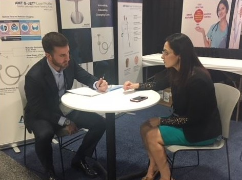 Dr. Maureen Kohi and mentee John Weaver meet during SIR 2017 in Washington D.C.